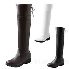 Knee High Synthetic Casual Cuban Women's Boots