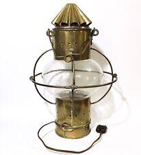 Antique Brass & Copper Nautical Ship Onion Lantern w/ European Wiring 15 Inch