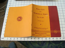 vintage Paper Ephemera: 1951 WILSON JONES CO. price list & numerical index 36pgs
