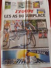 journal  l'équipe 19/07/2010 CYCLISME TOUR DE FRANCE 2010 CONTADOR RIBLON