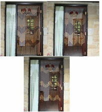 2 x Bamboo Beaded Wooden Door Curtain Glamorous Blind Fly Bug Screen 90x180cm