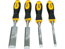 4pc CRV Woodwork Chisel Carving Woodworking Chisels Metal Strike Plate