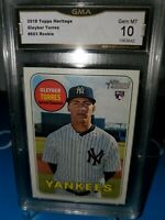 GMA 10 💎MINT ~2018 Topps Heritage Gleyber Torres ROOKIE  🔥YANKEES ! RC ⚾️🔥💎⚾