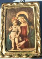 "Pinturicchio Roma ""THE VIRGIN WITH THE CHILD"" MINIATURE PAINTING FACSIMILE"