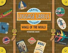 Wings of the World Luggage Labels: Travel Stickers   Laughing Elephant