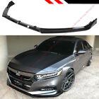 For 18-2020 Honda Accord 10th Gen Sport Jdm Glossy Blk Front Bumper Lip Splitter