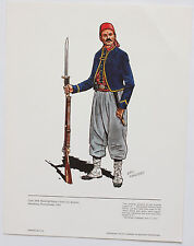 Zouaves Eric Manders 1861 Vintage Historical Military Uniforms in America Print