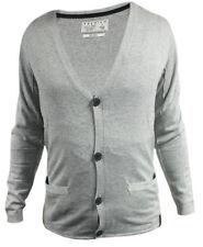 Cárdigan con botones de hombre en color principal gris