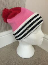 KATE SPADE BLOCK STRIPE BOBBLE HAT (MATCHING SCARF & GLOVES AVAILABLE) BNWT