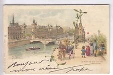 CPA  PARIS 75 -  MARCHE AUX FLEURS QUAI DE L'HORLOGE PUB CABARET EXPO 1900 ~C05