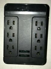 Rocketfish- 6-Outlet/2-USB Swivel Wall Tap Surge Protector - Black RF-HTS1615