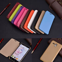 6Colors Protective Flip Luxury PU Leather View Case Cover For Smart Phones