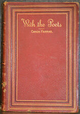1st Edition of With The Poets: A Selection Of English Poetry - Published 1883