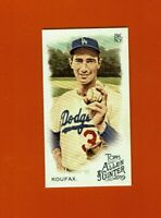 2019 Topps Allen & Ginter Mini Sandy Koufax #32 Los Angeles Dodgers