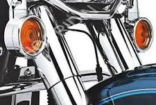 Harley turn signal chrome trim ring kit touring flhtc softail flstn ultra flhr