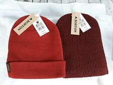 Burton Men's/Unisex, Beanie Lot of 2, Fired Brick and Bitters, One size