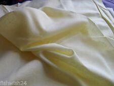 FABRIC sheer textured cotton,  pale lemon  114 cm  x 1.8 metres, new