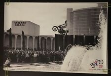Even Knievel Poster Caesars Palace Jump Pin-up Motorcycle Harley Davidson 50th