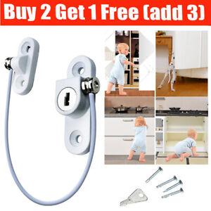 Baby Safety Cable Lock Window Door Restrictor Kids Child Security Locks Locking