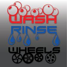 Detalle de lavado de coches, enjuague & Wheels Vinilo Cubeta Limpieza Valeting | Pegatinas |