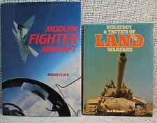lot 3 books  MILITARY MODERN FIGHTER AIRCRAFT STRATEGY & TACTICS OF LAND WARFARE