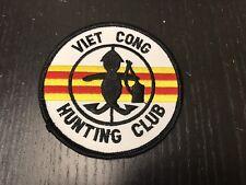 "NEW military patch, ""Viet Cong Hunting Club"" unique insignia, original Vietnam"