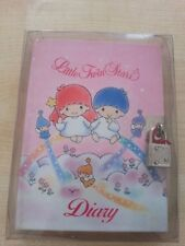 Little Twin Stars Vintage Sanrio 1992 Diary & Lock Pastel colour Fairy Kei style