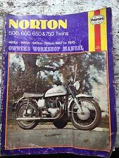 Norton 500 600 650 & 750 1957-1970 Service Shop Manual