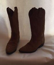 Vintage GUESS By Georges Marciano Tan Cowboy Boots Women's Tall Size 6 Fall