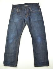 EDWIN Japan Faded Raw Denim Selvedge SK505E Leather Patch Jeans Tagged 31