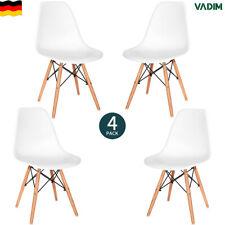 4er Set Esszimmerstühle Küchenstuhl Wohnzimmerstuhl mit Holzbeinen Bürostühle
