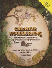 Vtg Booklet 2 Creative Woodburning Patterns Animals Seascapes Western