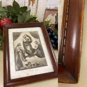 1920/30s Beautiful MARY JESUS Religious PICTURE Stunning Frame GREAT OLD LOOK