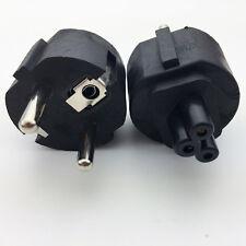 EU Mains Power Cable plug adapter EU PLug to IEC320 C5 Clover Leaf adapter plug