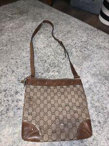 Beige Gucci Messenger Bag 100% Authentic RARE