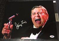 JERRY LEWIS Signed 11x14 Photo PSA/DNA COA AUTOGRAPH Las Vegas large signature