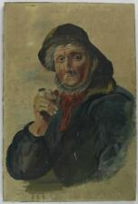 An 1897 naive portrait of a fisherman English school Oil on canvas Folk Art