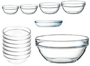 Stapelbaren Glas Schalen Empilable Arcoroc zur Auswahl