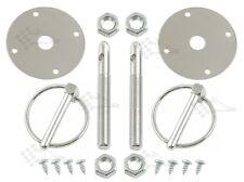 "Cromo Bonnet Pin Kit/campana & Deck Pins-con pesado deber 1/4"" clips de torsión"