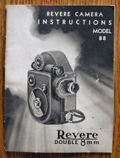 New listing Revere Double 8mm Model 88 movie camera user's instruction manual