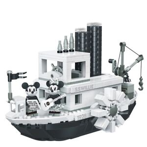 Steamboat Willie Gifts Mickey Mouse Building Blocks Toys Compatible