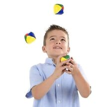 3 JUGGLING BALLS SET Kid Size Clown Juggle Bag Prop Circus Toy Child Bean Colors