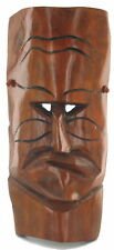 Vintage Tiki Bar Surf Art Wood Mask Mid Century Hawaii Hawaiian God Heavy 17""