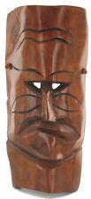 """Vintage Tiki Bar Surf Art Wood Mask Mid Century Hawaii Hawaiian God Heavy 17"""""""