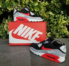 ❤ BNWB & Genuine Nike ® Air Max 90 Essential InfraRed Black Trainers UK Size 7