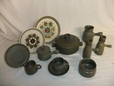 C4 Pottery Denby Langley - Sherwood deep olive grey-green tone, stamps vary 1D4G