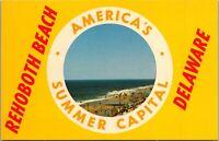 Rehoboth Beach America's Summer Capital Vintage Postcard Delaware DE - Unused