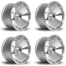 4 x Rota D154 Silver Polished Face Alloy Wheels - 16x8"