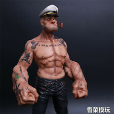 "HP Headplay 12"" Popeye the Sailor Man Resin Statue Action Figure W Tattoo Body"