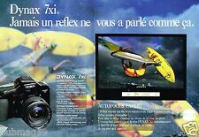 Publicité Advertising 1991 (2 pages) Appareil Photo Minolta Dynax 7Xi